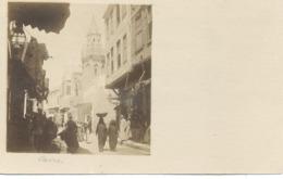 Le Caire : Vue D'une Rue , Photo Albuminée . - Le Caire