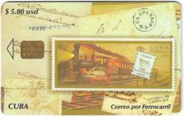 Cuba - Etecsa - Train Correo Por Ferrocarril, Stamps - 02.2005, 25.000ex, 5$, Used - Kuba