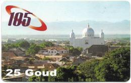 Haiti - Haitel - View With Cathedral (Serial On Right), Prepaid 25HG, Used - Haiti