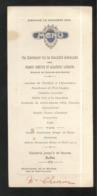 Menu Du Banquet De La Société Amicale Des Francs-Comtois Et Alsaciens-Lorrains 30 Novembre 1924 - Menus