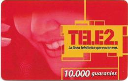 Paraguay - Tele2 - Smiling Woman, Prepaid 10.000Gs, Exp. 31.12.2003, Used - Paraguay