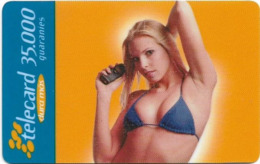 Paraguay - Telecel - Woman With Blue Bikini, Prepaid, 35.000Gs, Exp. 05.2001, Used - Paraguay
