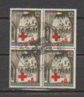 Allemagne ~ Pologne Gouvernement General  1940  N°68  Obl. (bloc De 4 Valeurs) Croix Rouge - 1939-44: 2. WK