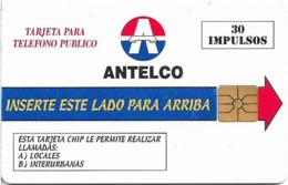 Paraguay - Antelco - Antelco Logo, 30U, Gem1A Symmetric Black, CN. Up Left Corner, 1997, Used - Paraguay