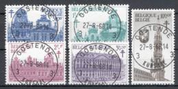 BELGIE: COB 1354/1358 GESTEMPELD. - Belgio