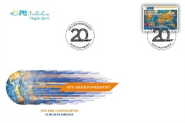 OD-1870 UPU EMS COOPERATIVE F.D.C. - 1921-... Republic