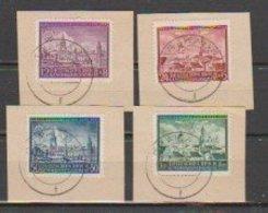 Allemagne ~ Pologne Gouvernement General  1942  N° 103 / 106 Oblitéré Sur Flagment..série Compléte - 1939-44: 2. WK