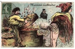 HUMOUR - Marrons Inattendue - FEMME NUE - Illustrateur REPI - Humour