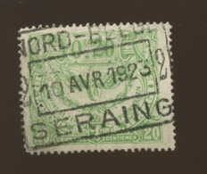 CF 102. 20c Vert. Qualité Luxe. Ø Ronde. NORD. BELGE 1923 - Chemins De Fer