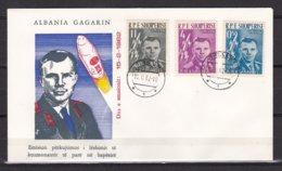 Albania, 1962, Space, Gagarin, FDC - Albanie