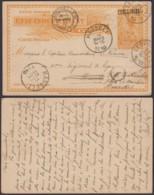 CONGO BELGE EP 10c SURCHARGE DE LEOPOLDVILLE 29/01/1910 VERS HASSELT RED BRUXELLES  (DD) DC-4099 - Interi Postali