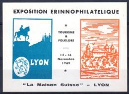 BLOC** EXPO ERINNOPHILATELIQUE LYON 1969 - La MAISON SUISSE - Erinnophilie