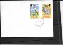 Tristan Da Cuhna:Y & T N¨°317/318 Sur Enveloppe 1er Jour ,superbe  ( 12e Jeux Du Commonwealth.) - Tristan Da Cunha