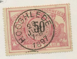 CF 21. 50c Rouge Qualité Luxe. Ø Ronde. Hooglede 1897 - Bahnwesen