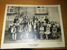Photo De Classe Pensionnat Notre Dame Langres 1949 50 - Personnes Anonymes