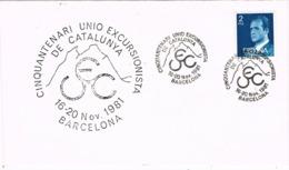 33994. Carta BARCELONA 1981. Centenario UEC, Union Excursionista Catalunya - 1931-Hoy: 2ª República - ... Juan Carlos I