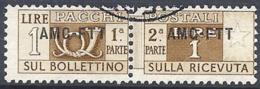 Trieste A - 1949 Corno Di Posta 1L Br Giallo S/ssu 1 Riga # Sassone PP13 - Michel PK13 - Scott Q13   USATO - Paketmarken/Konzessionen