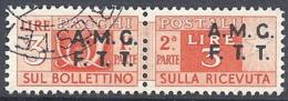 Trieste A - 1947 Corno Di Posta 3L Varancio S/s Su 2 Righe # Sassone PP3 - Michel PK3 - Scott Q3   USATO - Paketmarken/Konzessionen