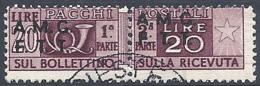 Trieste A - 1947 Corno Di Posta 20L Bruno S/s Su 2 Righe # Sassone PP7 - Michel PK7 - Scott Q7   USATO - Paketmarken/Konzessionen