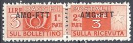 Trieste A - 1949 Corno Di Posta 3L Arancio Azz S/s Su 1 Riga # Sassone PP15 - Michel PK15 - Scott Q15   NUOVO** MNH - Paketmarken/Konzessionen