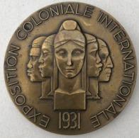 MEDAILLE DE TABLE EXPOSITION COLONIALE 1931 - ED MARTIN - France