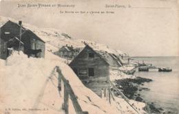 St Saint Pierre Et Miquelon La Route Du Cap à L' Aigle En Hiver , Voir Etat Ci Dessous - Saint-Pierre-et-Miquelon