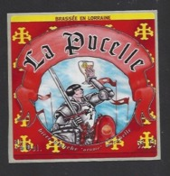 Etiquette De Bière Blanche Arôme Mirabelle  -  La Pucelle  - Brasserie Des Vosges  à  Saint Etienne Remiremont  (88) - Birra