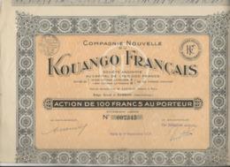 1928ACTION DE 100 FRS -COMPAGNIE NOUVELLE DU KOUANGO FRANCAIS  A  BAMBARI -HT -OUBANGUI -1928I - HT OUBANGUI - ANNEE - Altri