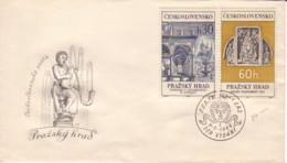 TCHECOSLOVAQUIE : 1966 - FDC - Monuments De Prague - FDC