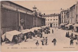 Bv - Cpa BEZIERS - Les Halles - Beziers