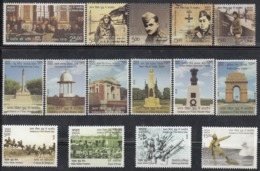 INDIA, 2019,  Contribution Of India In First World War 1914-18, Complete Set Of 15 Stamps,  MNH, (**) - Inde