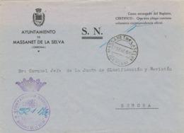 33999. Carta S.N. Franquicia Ayuntamiento MASSANET De La SELVA (Gerona) 1960 - 1931-Hoy: 2ª República - ... Juan Carlos I