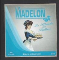 Etiquette De Bière Blanche Des Ballons  -  La Madelon  - Brasserie Des Vosges  à  Saint Etienne Remiremont  (88) - Birra