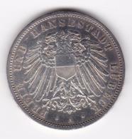 Nb_ Deutsches Reich  Lübeck - 3 Mark - 1914  (58) - 2, 3 & 5 Mark Argento