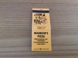 Pochette D'allumettes * ETATS UNIS «MAURIZIO'S PIZZA» - Boites D'allumettes