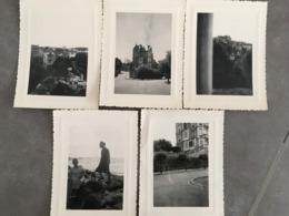 LOT DE 5 PHOTOGRAPHIES BIARRITZ VILLA CLEMENCE - Places