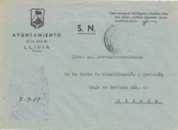 34002. Carta S.N. Franquicia Ayuntamiento LLIVIA (Gerona) 1959 - 1931-Hoy: 2ª República - ... Juan Carlos I