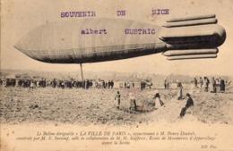 """CPA - Le Ballon Dirigeable """"La Ville De Paris"""" - Essais De Manoeuvres D'Appareillage Avant La Sortie - Dirigeables"""