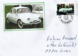 France. La Panhard-Levassor Des Années 1950's, Sur Lettre Année 2015 - Autos