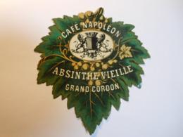 P162 - étiquette ABSINTHE VIEILLE - GRAND CORDON - CAFE NAPOLEON - Autres