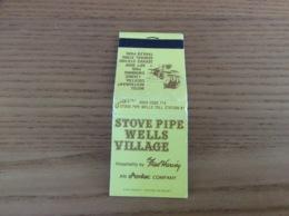 Pochette D'allumettes ETATS UNIS «STOVE PIPE WELLS VILLAGE - DEATH VALLEY» (Cheval, Cowboy) - Boites D'allumettes
