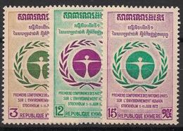 Cambodge Khmere - 1972 - N°Yv. 307 à 309 - ONU - Neuf Luxe ** / MNH / Postfrisch - Cambogia