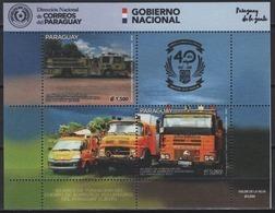 Paraguay (2019) - Block -  /  Firefighter - Bomberos - Pompiers - Transportation - Firemen - Trucks - Bombero