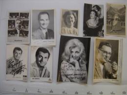 Lot 9 PHOTO Artistes Varietes Theatre Opera Spectacle Cabaret Music Hall DIJON - Célébrités