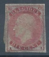 Emission 1865 Epreuve Du Coin De Wiener Du 10 Cent En Carmin . RR - Proofs & Reprints