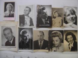 Lot 10 PHOTO Artistes Varietes Theatre Opera Spectacle Cabaret Music Hall DIJON - Berühmtheiten