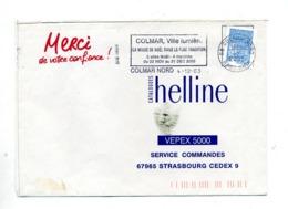 Lettre Flamme Colmar Magie De Noel - Oblitérations Mécaniques (flammes)
