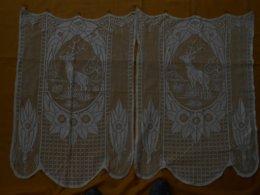Rideau - Paire De Rideaux Anciens 72 X 150 Cms - - Drapery