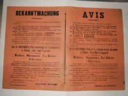 WW 1 :  Afiche Rouge Pour La Belgique  1916  ( Rabier ,Stoumont ,la Gleize & Chevron ) - Documents