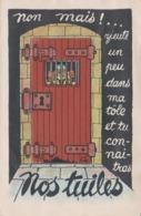 Carte à Système Dépliant 10 Vues Militaria Humour Illustrateur - Mechanical